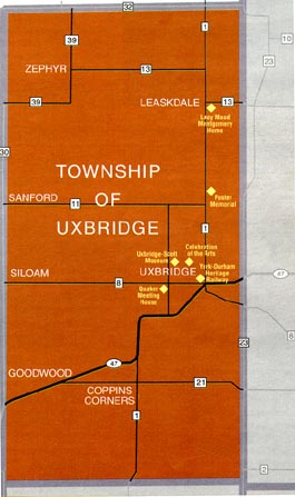 Map of Uxbridge Township